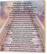 Typography Art Desiderata Poem On Stairway To Heaven Wood Print