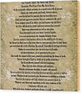 Typography Art Desiderata Poem On Watercolor Wood Print