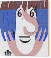 Typortraiture Ringo Starr Wood Print
