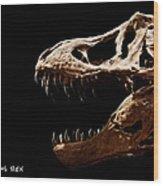 Tyrannosaurus Rex Skull 4 Wood Print
