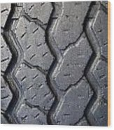Tyre Tread Wood Print