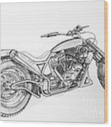 Long Mo'sickle Wood Print