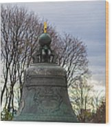 Tzar Bell Of Moscow Kremlin - Square Wood Print