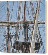 U. S. Brig Niagara Rigging Wood Print