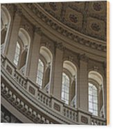 U S Capitol Dome Wood Print