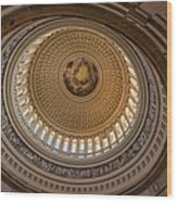 U S Capitol Rotunda Wood Print by Steve Gadomski