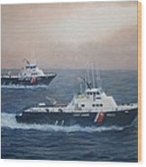 U. S. Coast Guard Surface Effects Ships Sea Sea Hawk and Shearwater  Wood Print