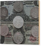 U S History Of Silver Dollars Wood Print