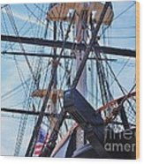 An Aspect Of The U S S Constellation, Baltimore Wood Print