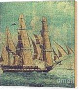 U S S Constitution 1803-1804 Wood Print