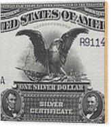 U. S. Silver Certificate 1899 Wood Print