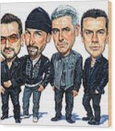 U2 Wood Print by Art