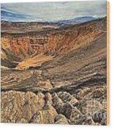 Ubehebe Crater Wood Print