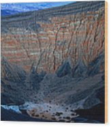 Ubehebe Crater Twilight Death Valley National Park Wood Print