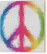 Uber Peace Wood Print