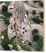 Uchisar Tufa Cone Wood Print