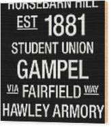 Uconn College Town Wall Art Wood Print