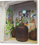 Udaipur City Palace Rajasthan India Queens Kitchen Wood Print