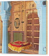 Udaipur Palace Swing Wood Print