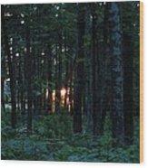 Udell Sunset Wood Print