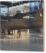 Udvar-hazy Center - Smithsonian National Air And Space Museum Annex - 121229 Wood Print by DC Photographer
