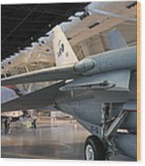 Udvar-hazy Center - Smithsonian National Air And Space Museum Annex - 121237 Wood Print by DC Photographer