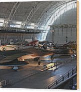 Udvar-hazy Center - Smithsonian National Air And Space Museum Annex - 12125 Wood Print by DC Photographer