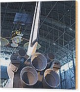 Udvar-hazy Center - Smithsonian National Air And Space Museum Annex - 121269 Wood Print by DC Photographer