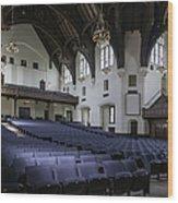 Uf University Auditorium Interior And Seating Wood Print