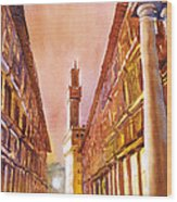 Uffizi- Florence Wood Print