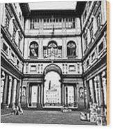 Uffizi Gallery In Florence Wood Print