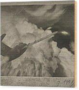 Ufo-1951 Wood Print by Akos Kozari