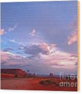 Ufo At Monument Valley Wood Print