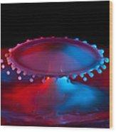 Ufo Splash Wood Print