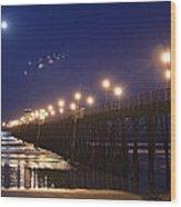 Ufo's Over Oceanside Pier Wood Print