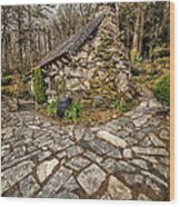 Ugly Cottage Wood Print by Adrian Evans