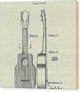 Ukelele 1940 Patent Art Wood Print by Prior Art Design