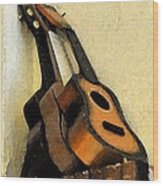 Ukes Wood Print by Everett Bowers