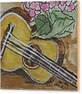 Ukulele One Wood Print