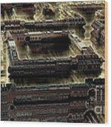 Ultra-urban Wood Print by Bernard MICHEL