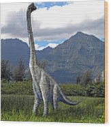 Ultrasaurus In Meadow Wood Print