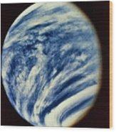 Ultraviolet Photo Taken By Mariner 10 Wood Print
