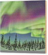 Ultrawide Aurora 4 - Feb 21, 2015 Wood Print