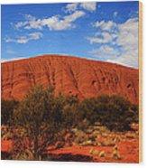 Uluru Central Australia Wood Print