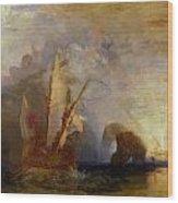Ulysses Deriding Polyphemus Wood Print