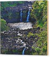 Umauma Falls I Wood Print