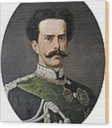 Umberto I Of Italy 1844-1900. King Wood Print