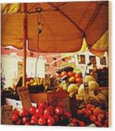 Umbrella Fruitstand - Autumn Bounty Wood Print