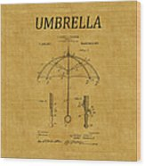 Umbrella Patent 1 Wood Print