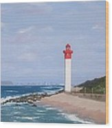 Umhlanga Lighthouse Durban Wood Print